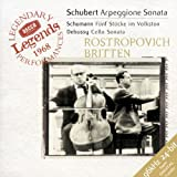 Schubert: Sonata for Arpeggione (bowed guitar) & Piano, d.821 / Schumann: 5 Pieces in the Popular Style (Volkston), Op. 102 / Debussy: Cello Sonata