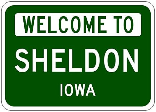 Sheldon, Iowa city sign