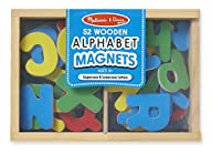 Melissa & Doug Wooden Alphabet Magnets