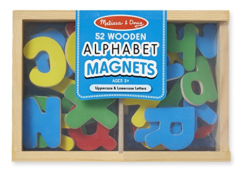 Melissa & Doug 52 Wooden Alphabet Magnets in a Box - Uppercase and Lowercase Letters (Melissa Doug Tool Box compare prices)