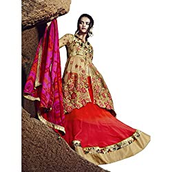 Aagaman Fashion Faux Georgette Lehenga Cholis (TSN88010_Orange)