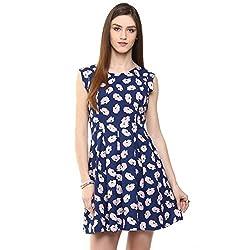 Honey by Pantaloons Women's Dress Blue_ S