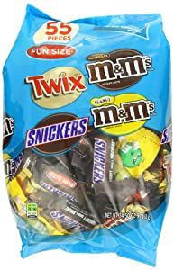M&M's MARS Chocolate Fun Size Variety Pack Candy, 55 Pieces, 34.5 Ounce Package