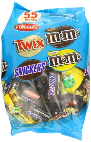 M&M's MARS Chocolate Fun Size Variety Pack Candy,