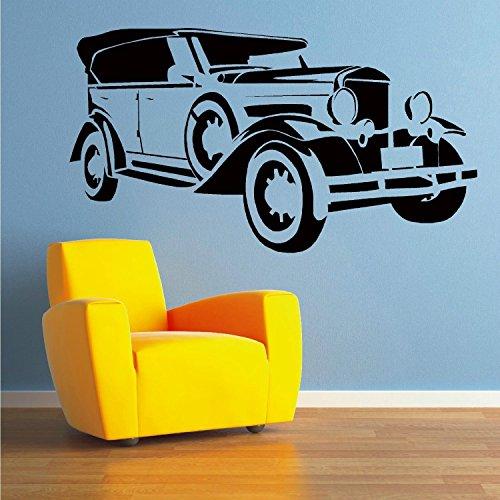 matrimonio-auto-limousine-vintage-classico-auto-adesivo-da-parete