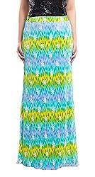 ZOYS Women's Lycra Regular Fit Skirt (ZOYSMS05 _ 28, Multicolor)
