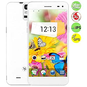 Mpie 909T Quad Core 3G Smartphone w/ MTK6582 5.5 Inch IPS OGS Screen 1GB+8GB Android 4.4 OTG GPS - White
