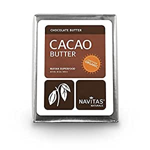Navitas Naturals Cacao Butter,  1 Pound  Pouches