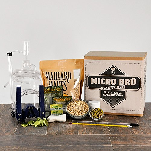 KickAss-American-Wheat-1-Gallon-All-Grain-Micro-Bru-Home-Brewing-Equipment-Kit-with-Beer-Recipe-Kit