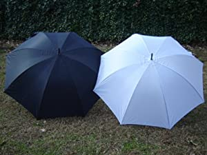 "Wedding Umbrella White/Black Tuxedo 2 Pack 60"" Golf Umbrella Bridal Shower by Ok Umbrella"