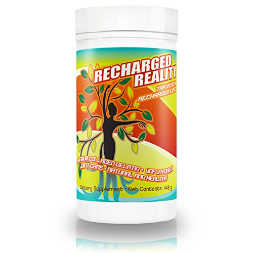 Hydrolyzed Collagen Powder Supplement- Improve Skin, Hair & Nails- Reduce Joint Pain & Get Relief From Rheumatoid Arthritis- Best Collagen by Recharged Reality- Free Ebook 100% Satisfaction Guarantee (Custom Order Medifast compare prices)