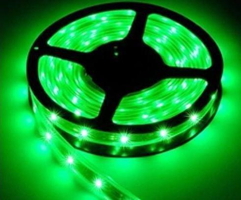 Ledjump 5M 16 Ft Reel Flexible Led Ribbon 300 Leds Green Strip With 3M Tape, 12 Volt, 24 Watt