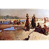 The Museum Outlet - Edwin Lord Weeks - Water Carriers Of The Ganges - Canvas Print Online (24 X 18 Inch)