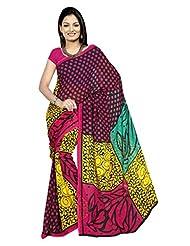 Designer Sari Pretty Printed Casual Wear Faux Georgette Saree By Triveni