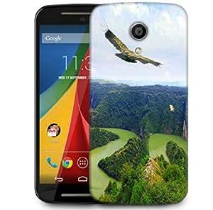 Snoogg Eagle Flying Designer Protective Phone Back Case Cover For Motorola G 2nd Genration / Moto G 2nd Gen
