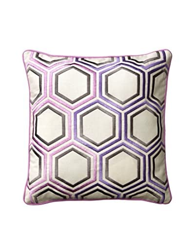 Happy Chic by Jonathan Adler Chloe Hexagon Pillow, Purple/White Multi