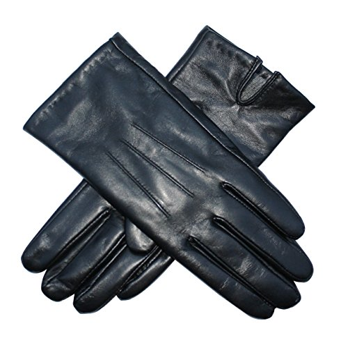 jasmine-silk-ladies-luxury-black-plain-leather-cashmere-lined-gloves-medium-7-75-inches