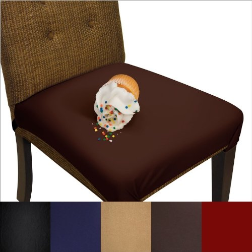 SmartSeat Dining Chair Cover and Protector - Pack of 2 - Chocolate Brown - Removable, Waterproof, Machine Washable, Stain Resistant, Soft, Comfortable Fabric for Kids, Pets, Entertaining, Eldercare (Chocolate Brown Chair compare prices)