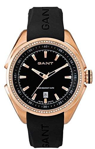 GANT W10873 - Reloj analógico de cuarzo para mujer con correa de plástico, color negro