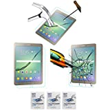 Acm Pack Of 3 Tempered Glass Screenguard For Samsung Galaxy Tab S2 9.7 T815 Tablet Screen Guard Scratch Protector