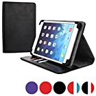 Cooper Cases (TM) Diplomat HTC Jetstream / Google Nexus 9 Portfolio Case in Black (Universal Fit, Business/Credit Card Slots, 360-Degree Rotating Viewing Stand, Elastic Strap Cover Lock)