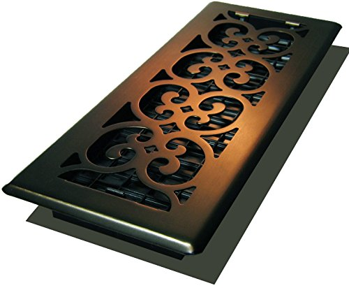 Decor Grates SPH412-RB Scroll Plated Register, 4-Inch by 12-Inch, Rubbed Bronze (Air Vent Covers Wall compare prices)