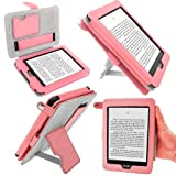 IGadgitz Pink PU 'Bi-View' Leather Case Cover for Amazon Kindle Paperwhite 2014 2013 2012 With Sleep/Wake Function & Integrated Hand Strap