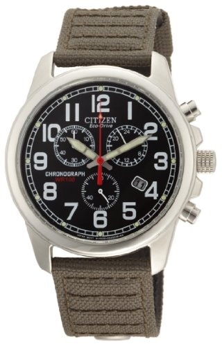 Citizen Men&#8217;s AT0200-05E Eco-Drive Chronograph Canvas Watch