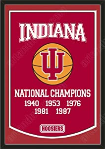 Dynasty Banner Of Indiana Hoosiers With Team Color Double Matting-Framed Awesome... by Art and More, Davenport, IA