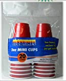 2oz MINI RED PARTY CUPS (3 packs of 20 cups) ~ perfect size for liquor shots, Jello shots, serving condiments and kids love them too!