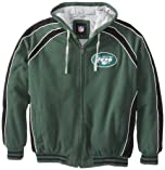 NFL New York Jets Polyfilled Color Blocked Fleece Jacket Quilt Lined Mens by G-III Sports