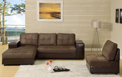 Miraculous Furniture Of America Grande 3 Piece Microfiber Sectional Inzonedesignstudio Interior Chair Design Inzonedesignstudiocom