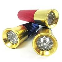 Bullet Shell Mini Aluminum Flashlight 9 LED Shotgun Light Pocket Torch Lamp New