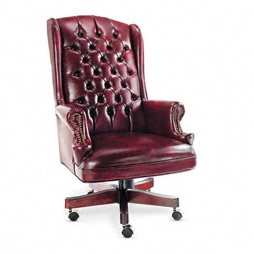 Alera Wing Back Swivel and Tilt Chair, Mahogany