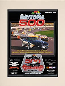 NASCAR Matted 10.5 x 14 Daytona 500 Program Print Race Year: 38th Annual - 1996 by Mounted Memories