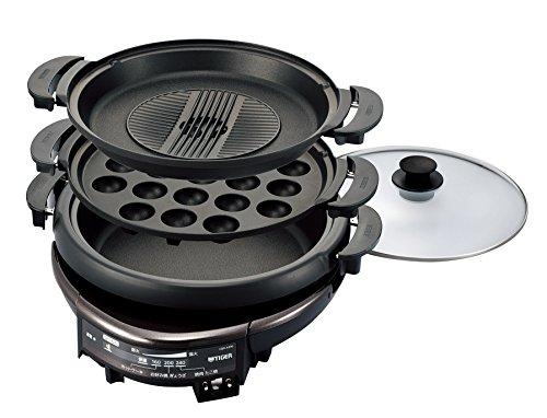 タイガー グリル鍋 深鍋・たこ焼き・焼肉プレート付き CQD-A300-T