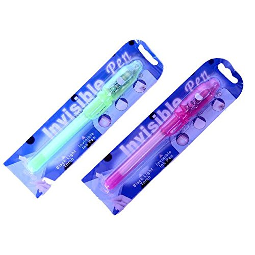 Dazzling Toys Invisible Ink Pen and Light - 12 Pack - 4 Nice Colors: Yellow, Blue, Purple and Pink. - 1