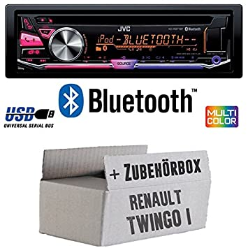 RENAULT TWINGO 1 - JVC KD r971bt - Kit de montage autoradio CD/MP3/USB Bluetooth Multicolore -