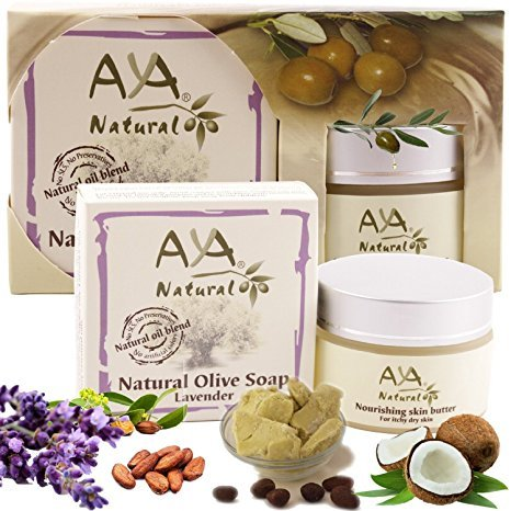 Aya Natural Nourishing Kit Bundle of Butter Moisturizer, 1.7 oz. and Lavender Soap, 3.4 oz. for Dry Itchy Sensitive Skin (Cream For Dry Skin compare prices)