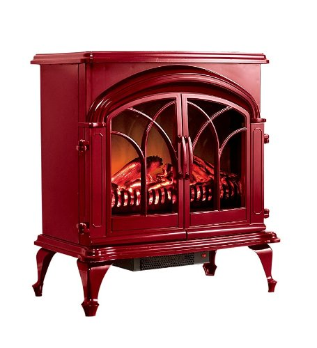 Energy Saving Portable Electric Stove With Stay-Cool Surface in Red