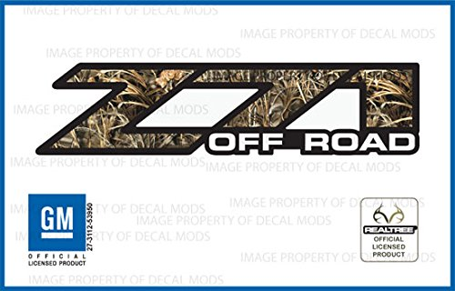 Chevy Silverado RealTree MAX4 Z71 Off Road decals stickers – MAX4 (2001-2006) bed side 1500 2500 HD (set of 2)