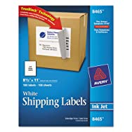 Shipping Labels with TrueBlock Technology, 8-1/2 x 11, 100/Box