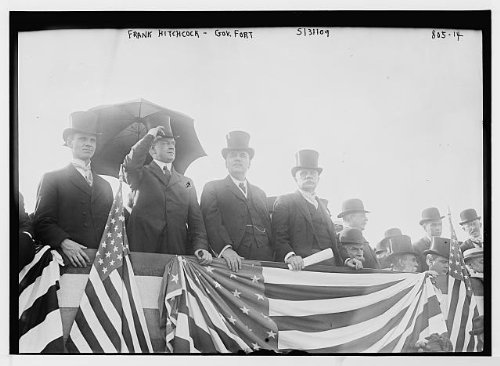Image of Frank Hitchcock,Governor Fort,speakers stand,Jersey City,Hudson County,N.J.,1909 (B0083W0Q7Y)