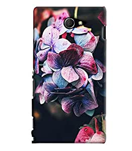 Blue Throat Rose Effect Printed Designer Back Cover/ Case For Sony Xperia M2