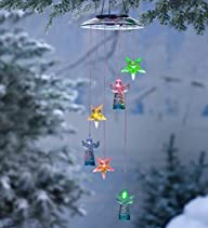 Color-Changing Angels and Stars Solar Mobile