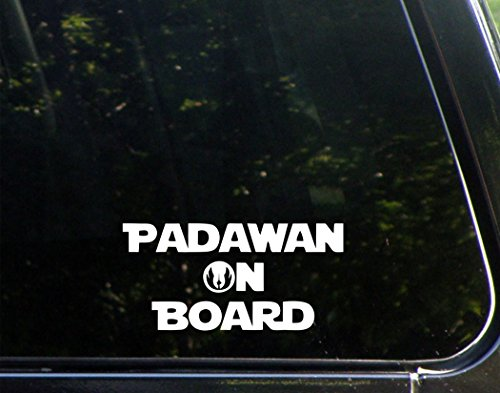 Padawan-On-Board-6-x-3-Funny-Die-Cut-Decal-Bumper-Sticker-For-Windows-Cars-Trucks-Laptops-Etc