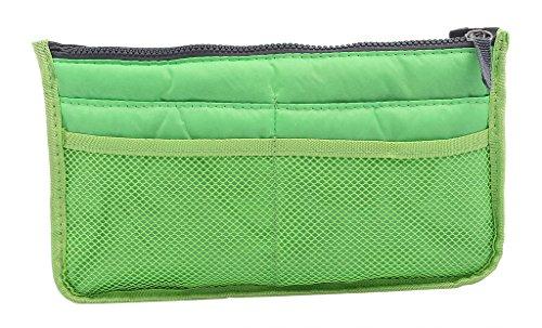 La Vogue Trousse de Rangement Grande Compartiment Coupe Rectangle Polyester Filet Zippé Multifonction Fourniture Bureau Voyage Taille 28*8.5*17cm Vert