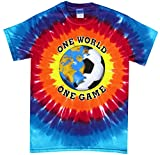 Soccer T-Shirt: One World Sunburst Tie Dye-Youth Small