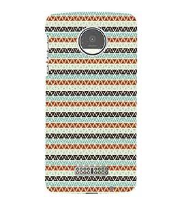 Colourful Pattern 3D Hard Polycarbonate Designer Back Case Cover for Motorola Moto Z Force :: Motorola Moto Z Force Droid for USA