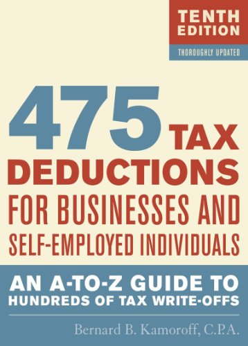 475 Tax Deductions for Businesses and Self-Employed Individuals: An A-to-Z Guide to Hundreds of Tax Write-Offs PDF